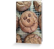double chocolate cookies :) Greeting Card