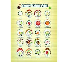 Know Your Roll - Cute Educational Sushi Photographic Print