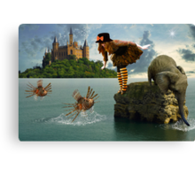 Afflicted By Fiction... Canvas Print