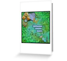 Action in Green Greeting Card