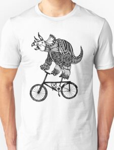 Triceratops on a Bike  Unisex T-Shirt