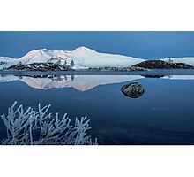 Lochan na h-Achlaise on Rannoch Moor, Scottish Highlands Photographic Print