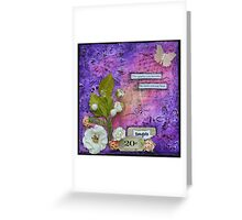 Thoughts in Purple Greeting Card