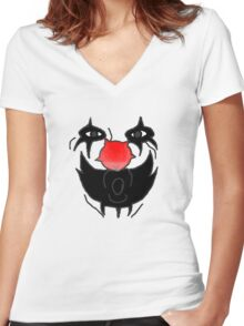 Doctor Rockzo The Rock and Roll Clown Women's Fitted V-Neck T-Shirt