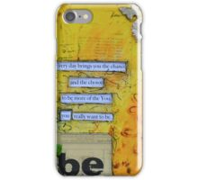 Be You in Yellow iPhone Case/Skin