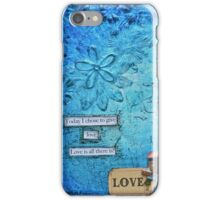 Love 2 in Blue iPhone Case/Skin