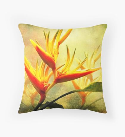 Flames of Paradise Throw Pillow