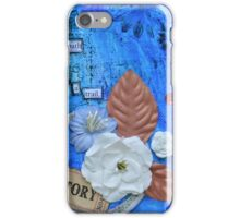 Story 2 in Blue iPhone Case/Skin