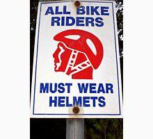 Helmet Awareness Sign Unisex T-Shirt