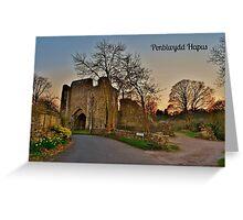 Cerdyn Penblwydd Llanfleiddan Greeting Card