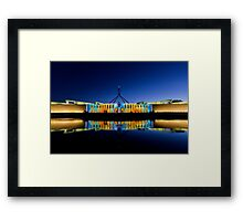 Enlightened Parliament - Opalescent Colours Framed Print