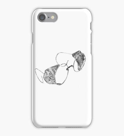 Dotwork vintage goggles iPhone Case/Skin