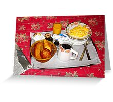 Le Petit Dejeuner Greeting Card