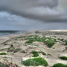 Storms over Stockton Beach by Adrian Paul
