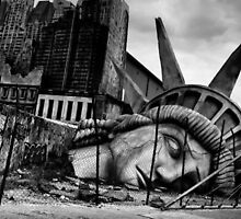 Broken Statue of Liberty by Janel Vazquez