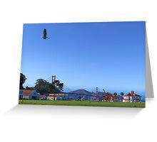 Blue Heron Blue Sky Crissy Field  Greeting Card