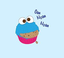 Cookie Monster Cupcake by AllaBeck