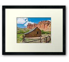 Old Barn at Fruita, Utah Framed Print