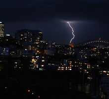 Lightning Flash - Sydney Australia by Neville Gafen
