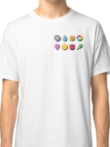 Kanto Pokemon Badges (With Shadow) Classic T-Shirt