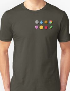 Kanto Pokemon Badges (With Shadow) T-Shirt