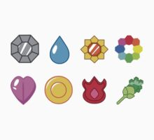 Kanto Pokemon Badges (Without Shadow) One Piece - Long Sleeve