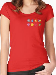 Kanto Pokemon Badges (Without Shadow) Women's Fitted Scoop T-Shirt