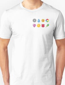 Kanto Pokemon Badges (Without Shadow) T-Shirt