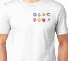 Kanto Pokemon Badges (Without Shadow) Unisex T-Shirt