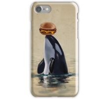 Orca Can Has Cheeseburger iPhone Case/Skin