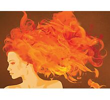 Hair on Fire Photographic Print