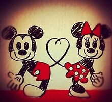 Mickey and Minnie Mouse by Janel Vazquez