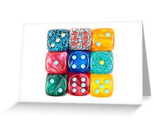Dices Greeting Card
