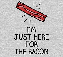 I'm just here for the bacon Womens Fitted T-Shirt