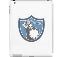 Crusader Knight Brandish Sword Shield Retro iPad Case/Skin