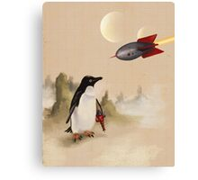 Pulp Penguin Canvas Print