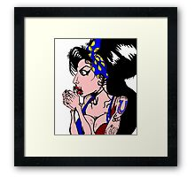 Amy Winehouse Drawing With Colour Framed Print