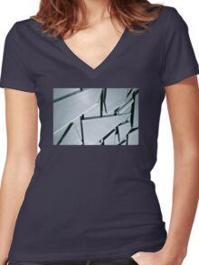 Shards Women's Fitted V-Neck T-Shirt