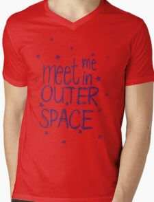 Meet me in outer space Mens V-Neck T-Shirt