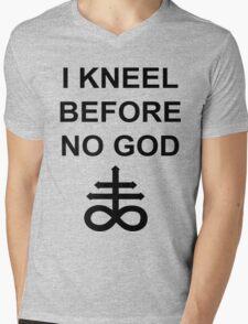 I Kneel Before No God Mens V-Neck T-Shirt