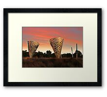 Sunset At Water Dance Sculptures Framed Print