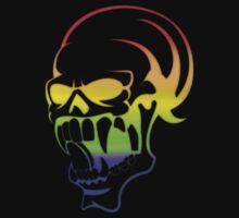 rainbow skull by redboy
