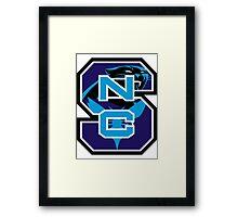 North Carolina Panthers Hornets Framed Print