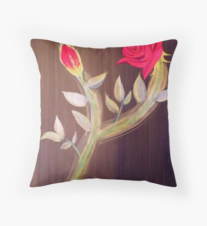 Title Eternal Rose (For my valentine) Throw Pillow