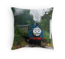 Thomas, Huffing and Puffing up the track Throw Pillow