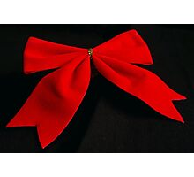 Red bow Photographic Print