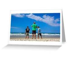 Boyz checking the beach Greeting Card