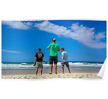 Boyz checking the beach Poster