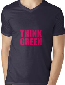 Think Green II Mens V-Neck T-Shirt