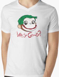 Why So Curious? Mens V-Neck T-Shirt